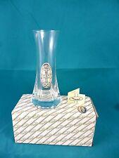 Vase aus Glas mit 925 Silber Applikation in OVP und Zertifikat
