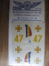 1/72 ABT DECAL N°143 MESSERSCHMITT BF109 E ROUMANIE ROMANIA 1941