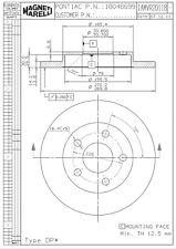 Disc Brake Rotor-CX Rear Magneti Marelli 1AMVR20118