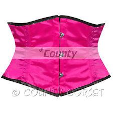 CINCHER MINI Vestaglia Shaper completa in acciaio steccato waistbust sexy rosa caldo corsetto in Satin