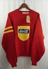 Vintage 80s COCA-COLA SWEATER - Deadstock NWT Varsity Style Official 1984 Coke