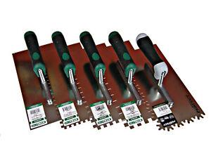 Fliesenkelle Edelstahl Zahnkelle Zahnspachtel Glättekelle 0-10mm 270x130mm Q1