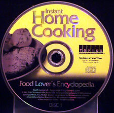 Instant Home Cooking Food Lovers Encyclopedia Disc 1 (CD, 2001 CounterTop Sftwr)