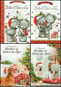 'BROTHER & SISTER IN LAW' CHRISTMAS GREETING CARD - MULTIPLE DESIGN'S - FREE P&P