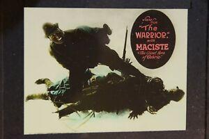 movie glass slide- the warrior 1916, Maciste - WWI Doughboy Italy Alps