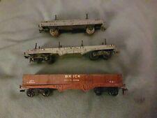 Hornby Dublo Wagons Bogoe Bolster Rare Brown Brick &Tube 2 and 3 rail