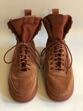 NIKE, AIR FORCE 1,  DARK PEACH, CANVAS AND SUEDE, SIZE 10 US,   ORIG $100