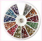 1.5mm 3600pcs Nail Art 3D DIY Rhinestones For UV Gel Acrylic Decoration LS