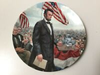 THE GETTYSBURG ADDRESS PLATE, LIMITED EDITION FIRST ISSUE, ABRAHAM LINCOLN