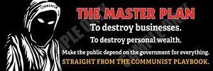 The Master Plan Communism Bumper Sticker