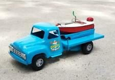 Buddy L Dock Co Marine Supplies Truck Pickup with Boat 1950's VERY RARE Marina