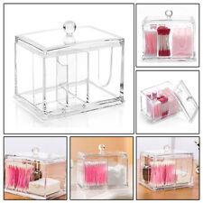 Clear Acrylic Makeup Cotton Bud Holder Toothpick Case Swab Stick Storage Case