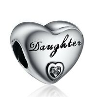 Daughter Style Best 925 Sterling Silver European Bead Jewelry Fit Charm Bracelet