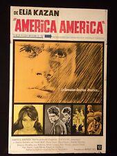 AMERICA, AMERICA * ELIA KAZAN * STATHIS GIALLELIS * ARGENTINE 1sh POSTER 1963