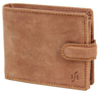 Mens RFID Blocking Leather Wallet ID & Coin Pocket Gift Boxed 1213-Hunter Brown