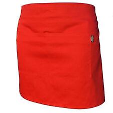 Plain Black Half Size Waist Waiter Waitress Apron For Bar Caf Pub 2 Pockets