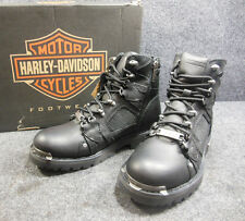 New Harley Roger Mens Lace Up Ankle Black Boots Shoes Size 8 D96080 #C152