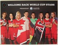 PORTLAND THORNS Womens World Cup 2015 MINI POSTER Handout SGA Soccer ALEX MORGAN