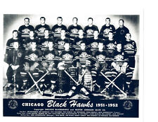 1951 1952 CHICAGO BLACK HAWKS 8X10 TEAM PHOTO HOCKEY NHL HOF ILLINOIS
