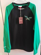 🔥🔥 PHILADELPHIA EAGLES NFL Mitchell & NESS SWEATER THROWBACK MENS LARGE NEW🏈
