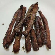 Premium - __Organic Black Pepper__- Real Smoked  Beef Jerky Sticks Snacks