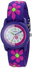 Timex T89022, Time Machines, Kid's Flower Printed Nylon Elastic Analog Watch