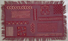 Lovely! Vintage Dutch C.1920 Purple Needlework Sampler Borders Broderie Ancienne