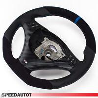Aplati Alcantara Volant en Cuir BMW M-POWER E87, e88 Neuf Cuir - Couverture Bleu