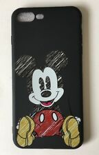Disney Mickey Mouse Black Silicone Gel iPhone 7  Or 8 Case Cover. Birthday, Gift