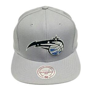 Mitchell & Ness NBA Orlando Magic Gray Team Logo Old School Snapback Cap Hat