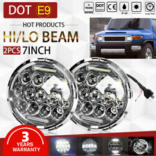 "New Listing2x 7"" Led Halo Headlights Hi/Lo Angel Eye For 1965-1985 Toyota Land Cruiser Fj40 (Fits: Isuzu Trooper)"