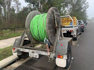 cable drum trailer - nbn fibre