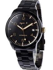 agnes b Black Gold Automatic Self Winding Men's Watch BK9010