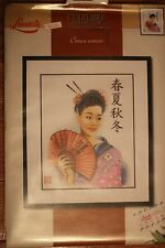 Lanarte Cross Stitch Kit - Chinese Woman -  New 34905