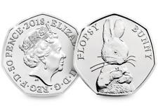 2018 UK Flopsy Bunny CERTIFIED BU 50p [Ref 617E]
