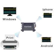 WIFI USB 2CH 70MHz Oscilloscope 250MSa/s Li-Battery for IOS Android Win 7 8 10