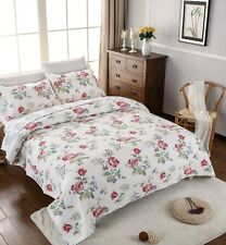 100% Cotton Reversible  Quilted Bedspread/Coverlet Queen Size  3pcs Set 1567