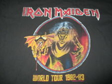 Retro 1982-83 IRON MAIDEN World Concert Tour (2XL) T-Shirt