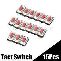 15PCS SMD SMT Micro Interruptor Momentáneo Botón Pulsador Táctil 2 Pin 3x6x2.5mm