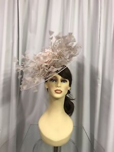 Snoxell & Gwyther Fascinator, Wedding Occasion, Formal Races In Peachy Pink