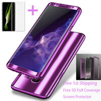 For Samsung Galaxy S8 S9 Hybrid Shockproof 360 Ultra thin Hard Mirror Case Cover