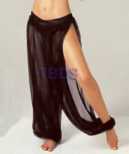 Women Student 1Slit Harem Yoga Genie Trouser Belly Dance Pant Size S~3XL 25Color