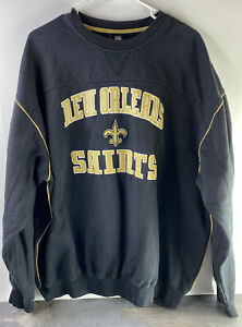 Vintage New Orleans Saints Pull Over Sweater NFL Football Adult Size 2XL