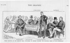 1884 Antique Print - LONDON Princes Hall Piccadilly Peel Lennox Churchill  (59)