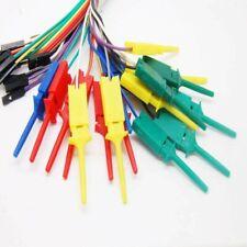 10pcs 28cm Test Clip Hooks Mini Grabber Jumper Lead Probes For Logic-Analyser