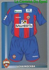 412 SHIRT TEAM CSKA.MOSKVA STICKER PANINI RUSSIA LEAGUE 2012
