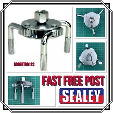 """Sealey 65-110mm 3/8"""" 1/2"""" Drive Oil Filter Claw Wrench Service Tool Remover NEW"""