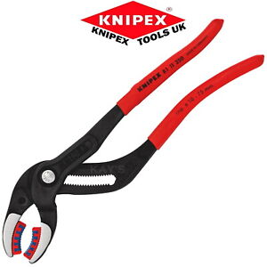 Knipex Soft Jaw Water Pump Pliers 250mm Push Button Plastic Pipe Grips 81 11 250