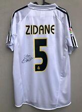 Real Madrid Football Shirt ZIDANE #5 Signed Autograph Jersey Soccer Zizou COA