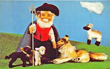 Steiff 1960 Stuffed Animals Zoo Favorites Shepherd and His Collie Dog Postcard
